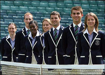 Wimbledon's umpires and line judges