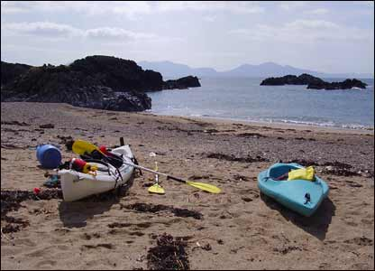 Iain Holland took this shot while on a sea kayak trip from Newborough Beach to Llandwyn Island