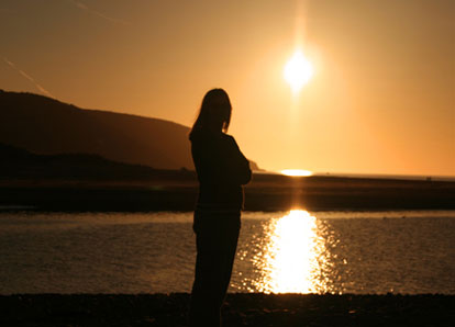 Silhoutte at sunset in Gwbert, west Wales (Brian Lewis)
