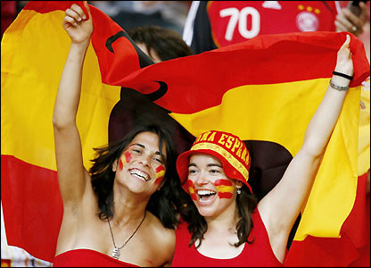 Spain fans in Kaiserslautern