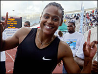 US sprinter Marion Jones