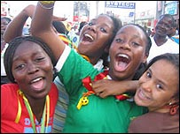 Girls celebrating in Accra (Pic: Lamisi Dabire)