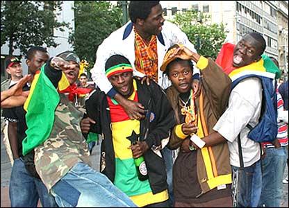 Ghana fans in jubilant mood