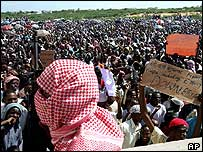 Previous Islamist rally in Mogadishu