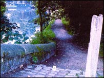 Huddersfield Canal towpath in Uppermill - courtesy of Greater Manchester Police