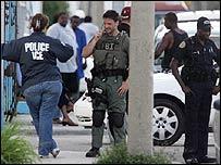 FBI officers during raid against terror suspects in Miami