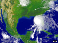 Satellite image of Hurricane Alberto