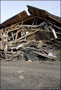 A house destroyed by Hurricane Katrina