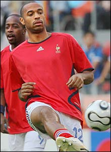 Thierry Henry loosens up
