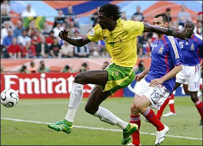 Emmanuel Adebayor in full flow for Togo