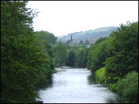 The River Taff in Pontypridd