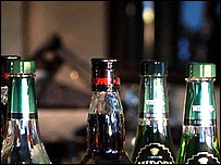 Botellas de alcohol