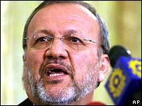 Iranian FM Manouchehr Mottaki