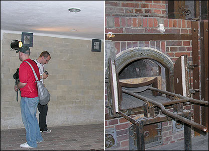 The gas chamber and one of the ovens at Dachau
