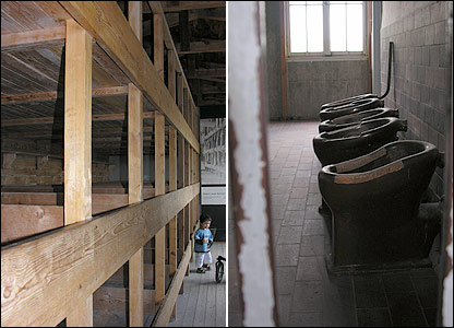 Beds and toilets in Dachau