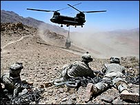 US troops taking part in Mountain Thrust exercise