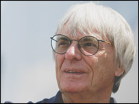 F1 chief Bernie Ecclestone