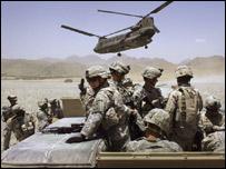 قوات أمريكية تشارك في عملية الاندفاع الجبلي-أفغانستان-22-6-2006