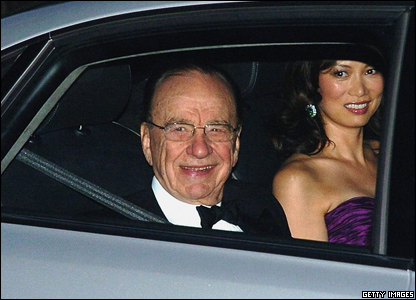 Media magnate Rupert Murdoch attended the wedding with his wife Wendy Deng.