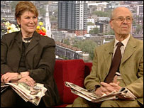 Reggie Nadelson and Lord Tebbit