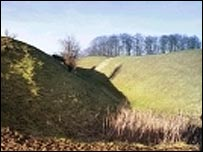 Barbury Castle: picture from Swindon Borough Council