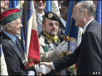 Jacques Chirac speaks to veterans on 90th anniversary of Battle of Verdun