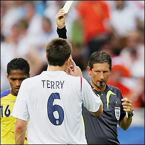 Referee Frank De Bleeckere books John Terry