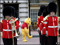 Guardsmen and Winnie the Pooh