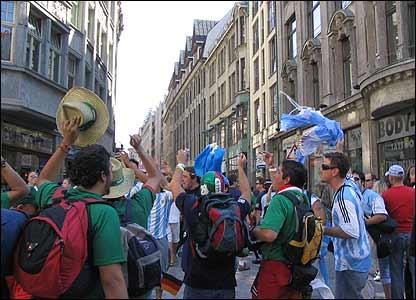 Argentina-México en Leipzig.