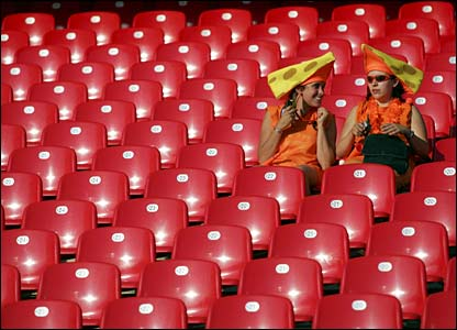 Fans in the stadium in Nuremberg