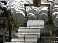 Steel produced at a Mittal plant