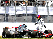 Juan Pablo Montoya crashes out in Montreal