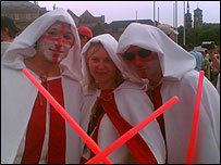 England fans dressed as Jedis