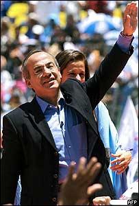 Felipe Calderón, candidato del PAN.