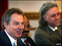 Tony Blair and Bob Geldof