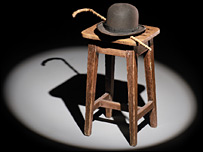 The hat-and-cane set sold in the auction