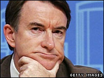 EU trade minister Peter Mandelson