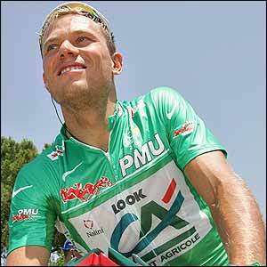 Eventual green jersey winner Thor Hushovd
