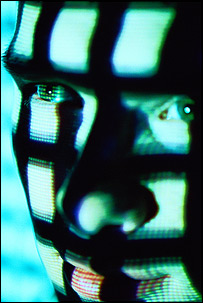 Man facing a computer screen   Image: Royal Society