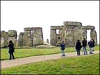 Visitor at Stonehenge