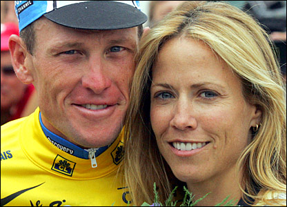 Lance Armstrong with then girlfriend Sheryl Crow