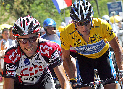 Ivan Basso and Lance Armstrong