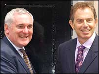 Bertie Ahern and Tony Blair