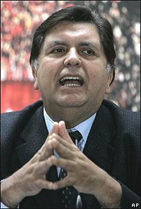 Alan García, presidente electo de Perú.