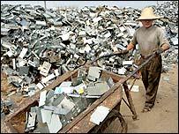 Vertedero de viejas computadoras