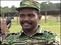 Former Tamil Tigers fighter Karuna, who has broken away from the group