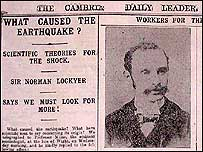 How the Cambrian Daily Leader reported the earthquake