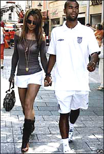 Ashley Cole and his fiancee Cheryl Tweedy