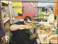 Artist works at the Creative Growth Centre
