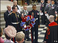 Wreath laying ceremony at Westminster Abbey